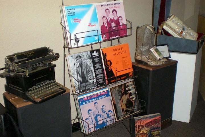 LP Records & Frank Stamps Typewriter